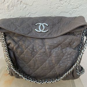 Chanel gorgeous quilted leather chain strap bag